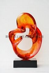 酒店透明雕塑抽象雕塑