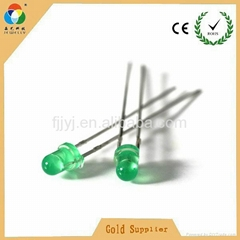 Hot sales light source led light high green color 3mm side emitting led diode