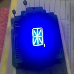 """super blue 0.8"""" 1 digit 16 segments led"""