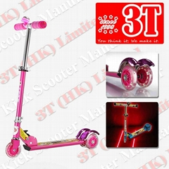 100mm PVC Wheel Promotional Kick Scooter with Laser Projectoer