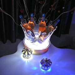 crown Shape LED ice bucket cooler,drink lights
