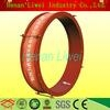 Round fabric compensator