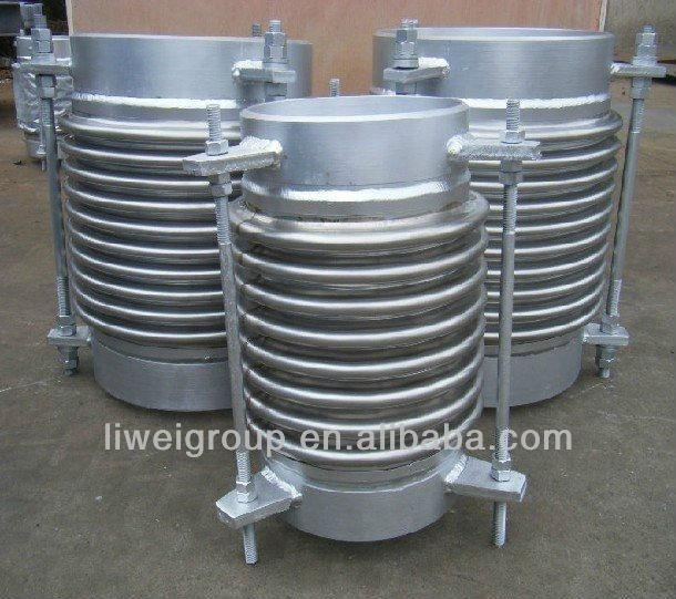 Double bellows lateral movement stainless steel expansion