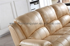 Recliner sofa,beige color reclining sofa set