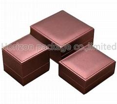 Plastic leather jewelry box