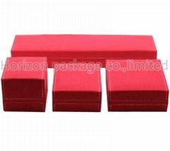 Red plastic jewelry box