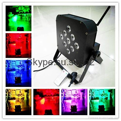 9pcs *15W 5 in 1 LED flat Battery Par Light wireless control 2