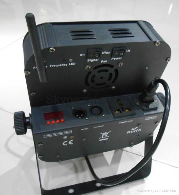 9pcs *15W 5 in 1 LED flat Battery Par Light wireless control 5