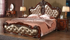Good quatity in french style royal bedroom furniture set