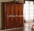 American classic style high end luxury wood structure and soft leather  bed 3
