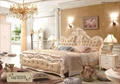 Luxury single bed with handmade carving and soft leather finish 1
