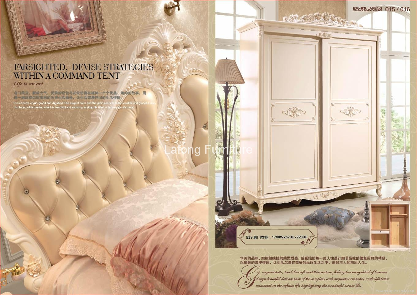 Luxury single bed with handmade carving and soft leather finish 2