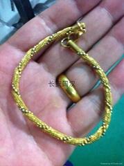 鎏金316L不鏽鋼扭網纏珠鏈手鏈