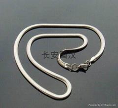 圆 扁蛇316L不锈钢项链