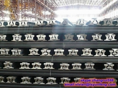 GB JIS BS standard rail steel light rail steel from china manufacture