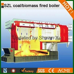 Best Selling! 6-35 T/H Coal Fired Steam Boiler SZL Double Drums Series Chain Gra