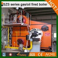 10-75 TPH SZS Series Water Tube Natural Gas Fired Steam Boiler