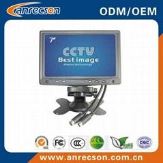 Plastic 7 inch CCTV LCD monitor