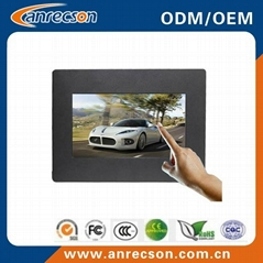 7 inch industrial embedded mount touch screen LCD monitor