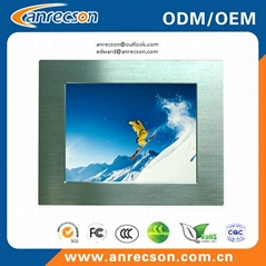 Rugged 17'' industrial embedded mount touch screen LCD monitor