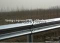 Galvanized w beam highway guardrail