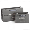 Promotional custom printed luxury ribbon handle paper gift bag