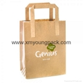 Promotional custom printed luxury ribbon handle paper gift bag  5