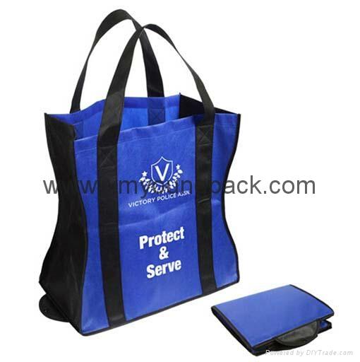 Promotional custom printed foldable non woven polypropylene eco bag 2