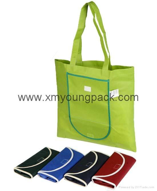 Promotional custom printed foldable non woven polypropylene eco bag 1