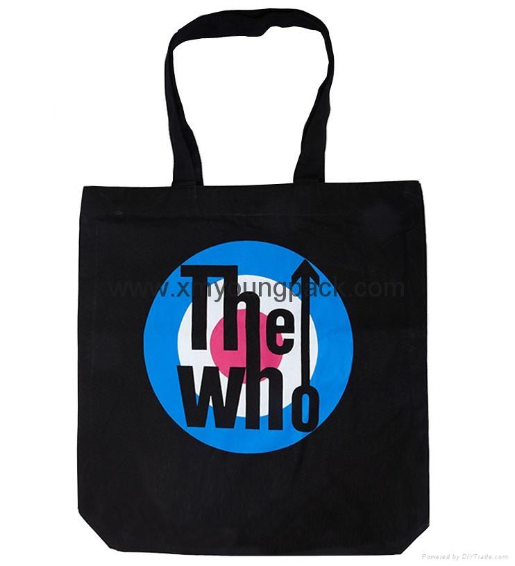 Fashion custom women′s canvas leather handle tote bag 2