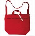 Fashion custom women′s canvas leather handle tote bag 3