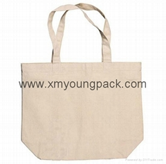 Promotional custom printed eco friendly reusable 100% natural cotton tote bag