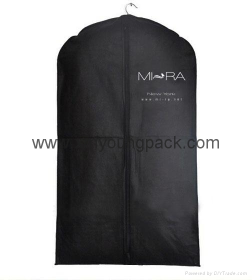 Personalized custom printed white non woven suit cover bag 3
