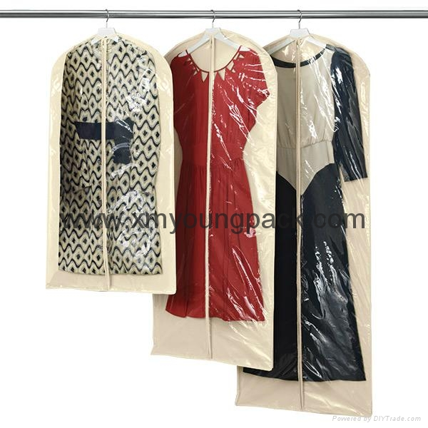 Personalized custom printed white non woven suit cover bag 5