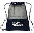 Promotional custom nylon drawstring cinch backpack bag 5