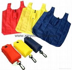 Advertising promotional custom nylon foldable shopping bag