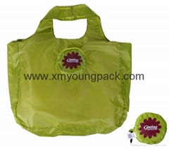 Promotional custom reusable foldable nylon tote bag