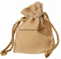 Wholesale promotional custom small 100% polyester satin fabric gift bags 7