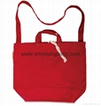 Fashion red custom handmade handbag canvas bag