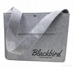 Personalized custom printed large felt shoulder messenger bag