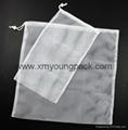 Promotional custom large 100% natural cotton canvas laundry bag