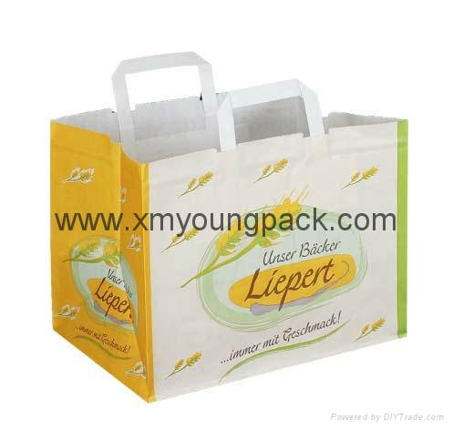 Promotional custom printed luxury ribbon handle paper gift bag  7