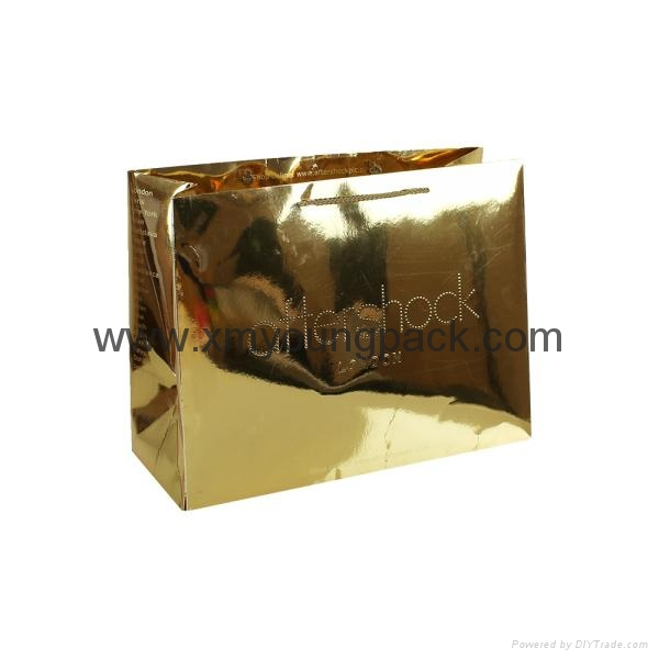 Promotional custom printed luxury ribbon handle paper gift bag  9