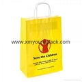 Custom printed promotion 100% recycled white craft gift paper bag