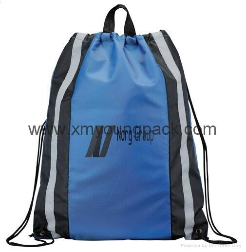 Personalized custom waterproof lightweight nylon gym sack drawstring bag 4