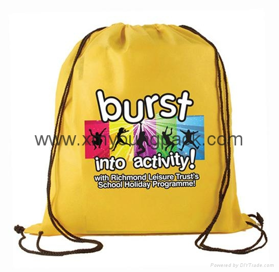 Personalized custom waterproof lightweight nylon gym sack drawstring bag 6