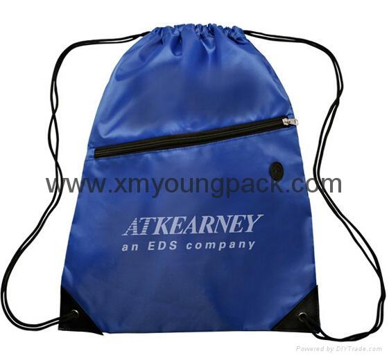 Personalized custom waterproof lightweight nylon gym sack drawstring bag 7