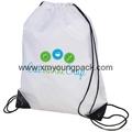 Personalized custom waterproof lightweight nylon gym sack drawstring bag 8