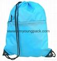 Personalized custom waterproof lightweight nylon gym sack drawstring bag 9