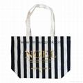 Fashion custom women′s canvas leather handle tote bag 5
